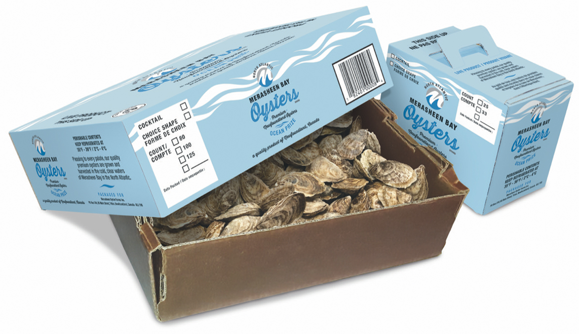 Merasheen Bay Oyster boxes