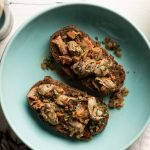 Merasheen-Bay-Oysters Baked Oysters with Bacon, Onions & Stout (pumpernickel bread)