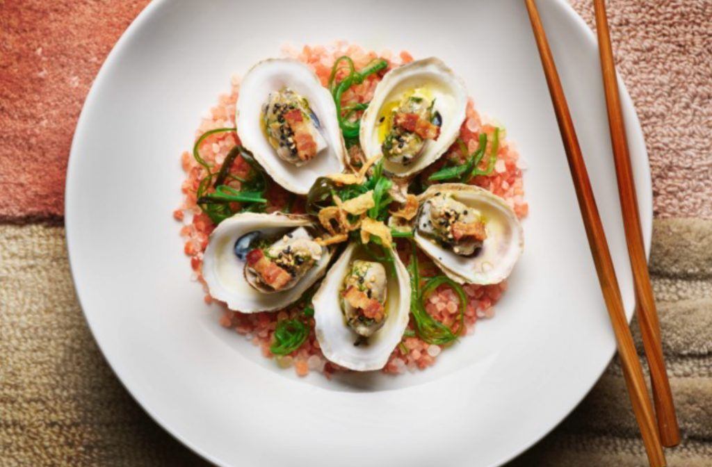 Asian-Inspired Shucked Merasheen Bay Oysters