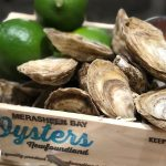 Oysters Natural - Peach BBQ Sauce, Red Wine Mignonette, Limes